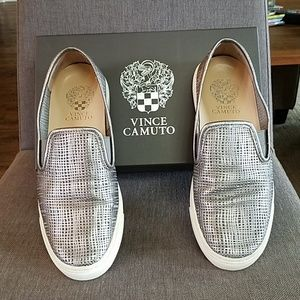 Vince Camuto VC-Becker Pewter Perforated Slip-on